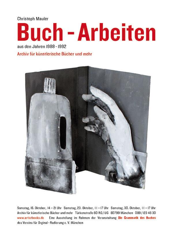 Buch-Arbeiten von Christoph Mauler Plakat