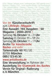 kuenstlerzeitschriften plakat 2010