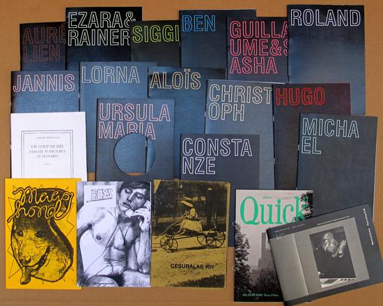 14 Hefte der österreichischen blackpages, Hefte von Jérémie Bennequin, Maag Hond, Only magazine Boys, Cesuralab, Quick und mono.kultur #26