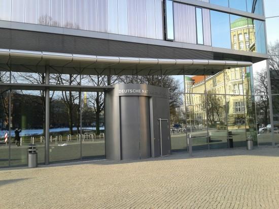 Eingang zum Deutschen Buch- und Schriftmuseum