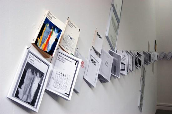 Ausstellungsansicht der LBF im Kunstraum immanence, Paris, 18. - 24. April 2013. (Foto: www.archive.printeresting.org)