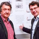 Hubert Kretschmer und Dr. Bernhard Lübbers von der Staatlichen Bibliothek Regensburg