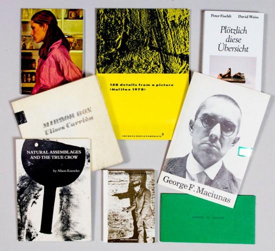 Einige Beispiele der ausgestellten Künstlerbücher
