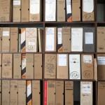 Artpool-Archiv, nach Ländern geordnet. Der USA-Schrank