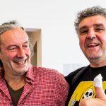 Ingo Gleixner-Böhm von der South Bavarian Morning Post mit Michael Wladarsch vom Gaudiblatt