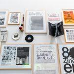Archiv Galerie / Wand mit Beispielen aus dem AAP, Foto Vadim Kretschmer