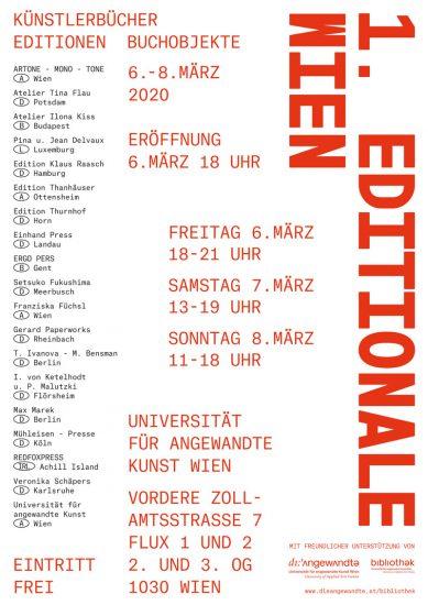 1. Editionale Wien 2020